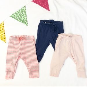 Gap Leggings Size 3-6 Months - Pink and Blue